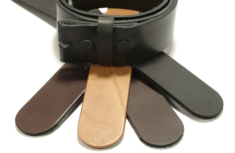 Press-studded belt straps