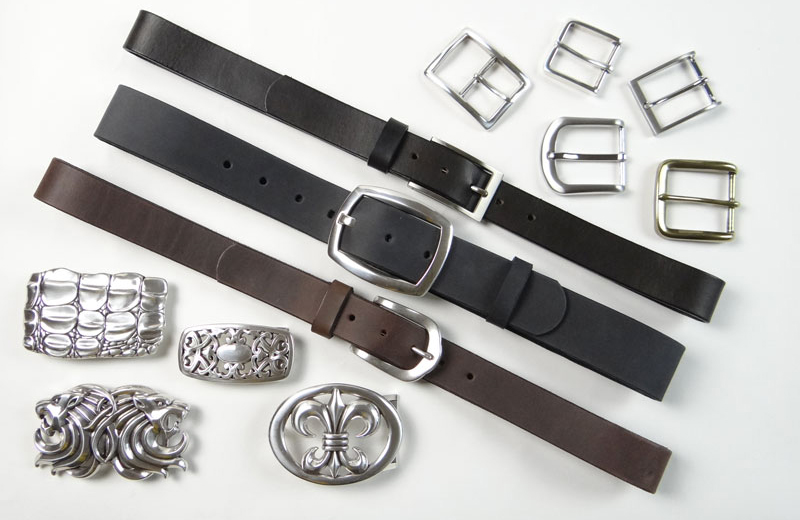 Nickel-free leather belts