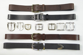 Belts with premium buckles