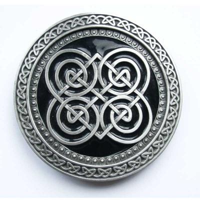 runde Guertelschnalle orig. Dragon Design als keltisches Motiv