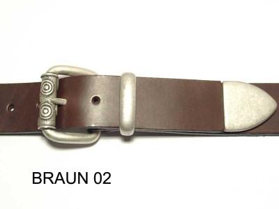 Guertel mit altsilberfarbigem Schnallenset 4 cm Breite nickelfrei
