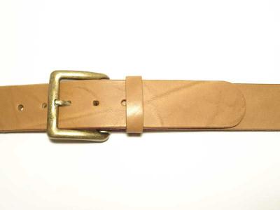 Guertel mit altmessingfarbiger Schnalle Breite 4 cm nickelfrei