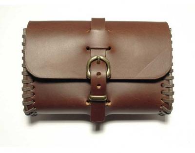 Brown/cognac coloured belt bag, handmade in saddler quality
