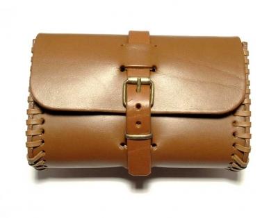 Tan coloured belt bag, handmade in saddler quality