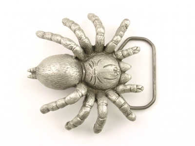 Guertelschnalle Spinne, silberfarbig, original Great American Buckle