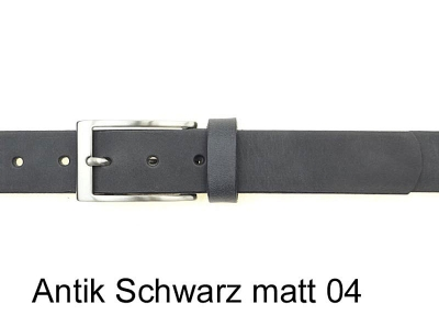 Belt with silver coloured brushed satin nickel-free buckle