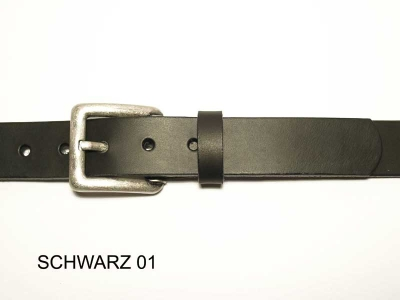 Belt with antique silver coloured buckle, 3cm wide