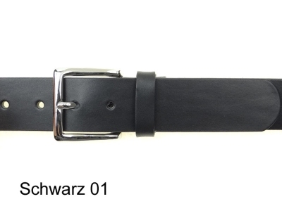 Belt with silver coloured buckle, 4cm wide, nickel-free