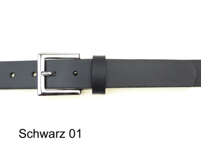 Belt with silver coloured nickel-free buckle, 3cm wide