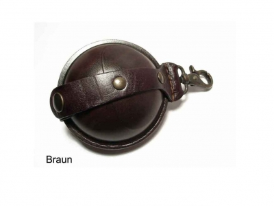 Small hardened leather pouch