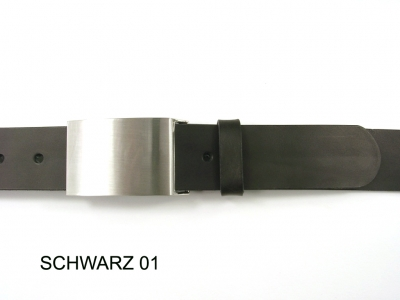 Belt with classic buckle design in silver coloured satin finish