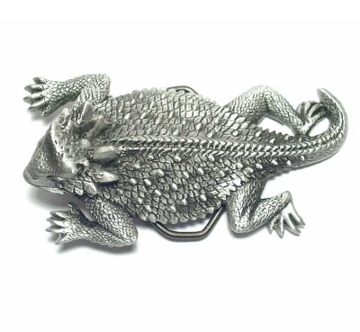 lizard buckle, silver coloured, original Great American Buckle