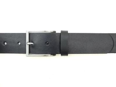 Belt with simple, elegant, matt silver coloured buckle, 4cm