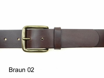 Belt with high quality solid brass buckle, 4cm wide