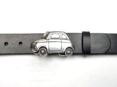 Fiat 500 Gürtelschnalle mit Ledergürtel