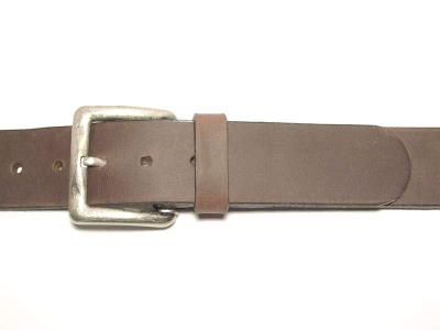 Gürtel mit eckiger altsilberfarbiger Schnalle 4 cm Breite