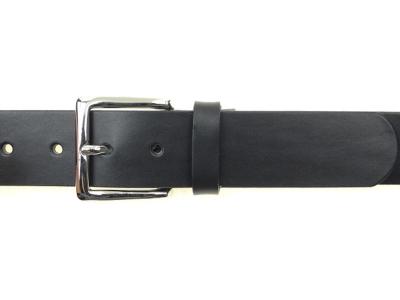 Gürtel mit silberfarbiger Schnalle 4 cm Breite