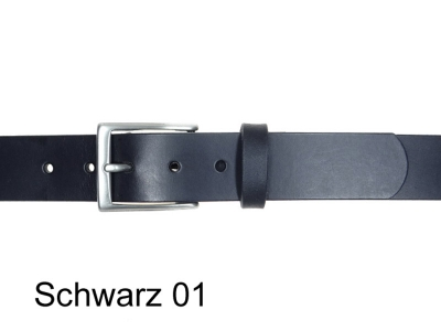 Belt with 3.5 cm wide silver-coloured satin finish belt buckle, nickel-free