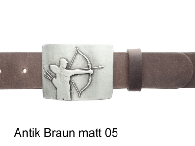 Belt with archer belt buckle