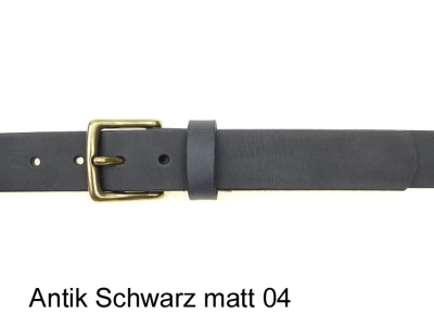 Belt with a small, square, solid brass buckle, nickel-free