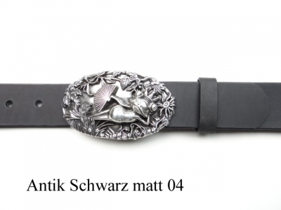 Frog king buckle and leather belt