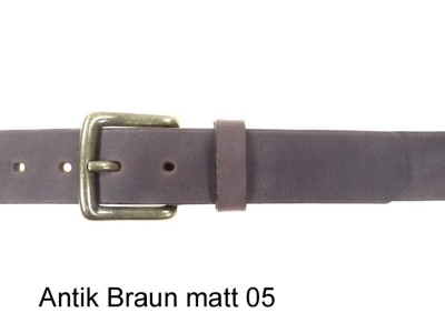 Belt with antique brass coloured buckle, 3.5 cm wide, nickel-free
