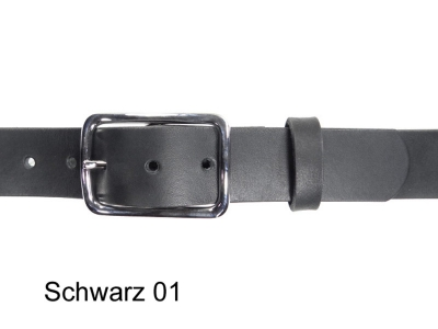 Belt with silver coloured, nickel-free rectangular buckle, 3.5cm wide