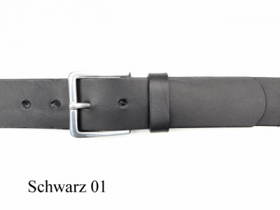 Belt with 3.5 cm wide silver-plated belt buckle