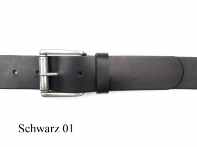 Belt with simple, elegant, matt silver coloured buckle, 4cm