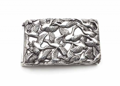 Flock of birds belt buckle