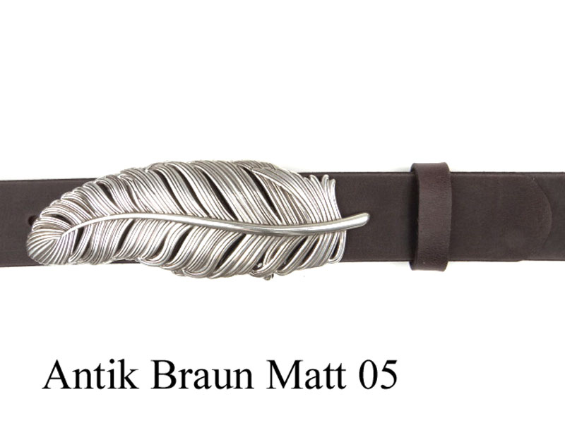 7145499cf3b794 Feder Gürtel Schnalle versilbert online kaufen