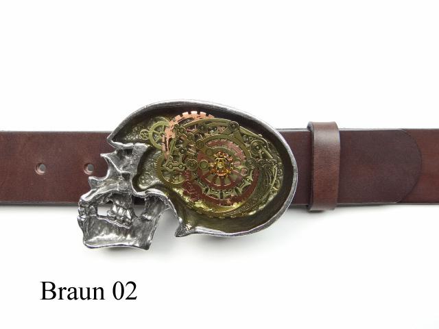 Alchemy clockwork skull belt buckle 67d2bd08ba0