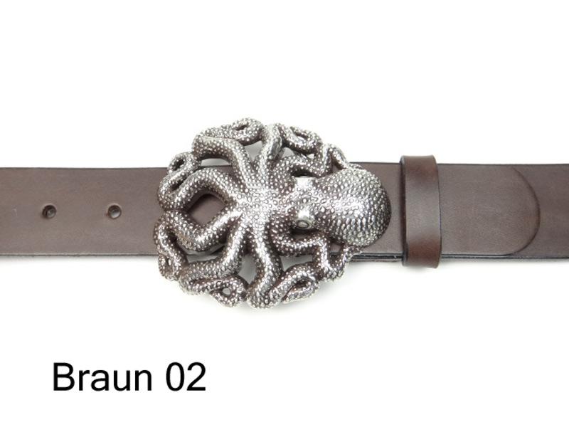 Octopus buckle with leather belt Gürtel nach Maß 717d98eebba
