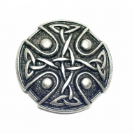 Buckle with antique silver coloured, rustic celtic knot design
