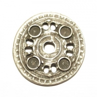 Round decorative rivet, antique silver coloured finish, 3.3cm diameter
