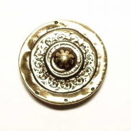 Round, brass coloured decorative rivet, 2,7cm diameter