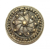 Round decorative rivet, antique brass coloured, finish, 3.2cm diameter
