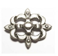 Antique silver coloured buckle with historical design