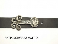 Belt with antique silver coloured buckle 3.5 cm wide, nickel-free