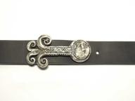 Gürtel mit altsilberfarbiger Schnalle 3,5 cm Breite nickelfrei