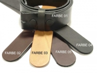 Press-studded belt strap with nickel-free press-studs