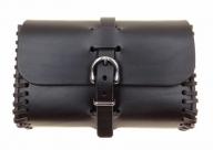 schwarze Gürteltasche, handgefertigte Sattlerqualität