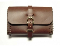 Brown/cognac coloured belt bag, handmade in saddler quality