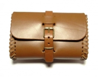 Tan coloured belt bag, handmade in saddler quality
