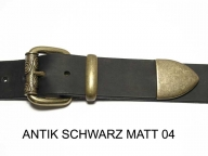 Belt with antique brass coloured buckle set, 4 cm, nickel-free