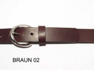 Belt with small round silver coloured buckle, 3cm wide