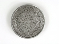 Maya Calendar buckle, silver coloured finish
