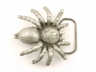 Spider buckle, silver coloured, original Great American Buckle