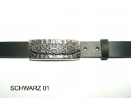 Womens belt with silver coloured  buckle, 3cm wide