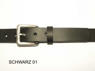 Belt with antique silver coloured buckle, 3cm wide - 1